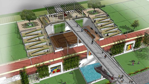 Fitness Zone Structures for river land development project